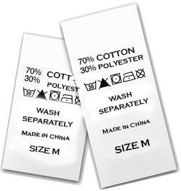 Étiquettes de vêtements